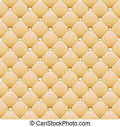 Abstract upholstery on a yellow background. Vector.