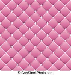 abstract, upholstery, op, een, roze, achtergrond.