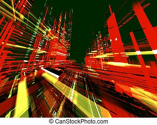 Abstract urban color luminous background