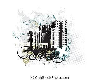 urban grunge city