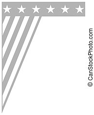 abstract us flag monochrome border