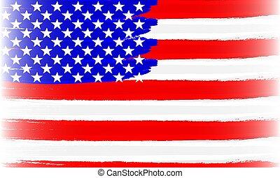 abstract usa flag brushed