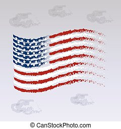 Abstract USA flag, Independence Day