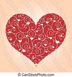 abstract, valentijn, begroetende kaart