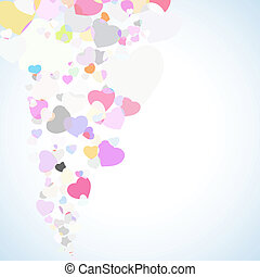Abstract valentine colorful background. EPS 8