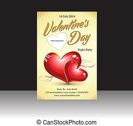 abstract valentine flyer