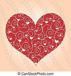 Abstract Valentine greeting card