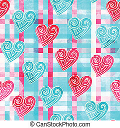 abstract valentine seamless pattern with grunge effect