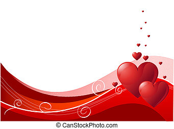 Valentines - Abstract Valentines Day background with hearts....