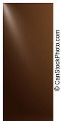 abstract, van, donkere chocolade, -, cocao, kleur, in, studio, kamer, achtergrond, met, sportlights.