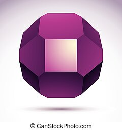 Abstract vector 3D geometric object