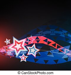 abstract vector 4th of july background