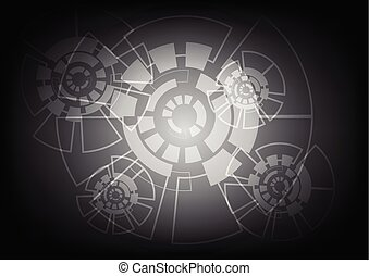 abstract, vector, achtergrond, technologie, concept.