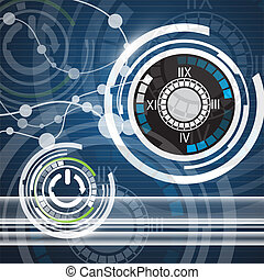 Abstract vector and technology background