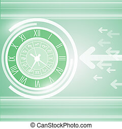 Abstract vector and technology back