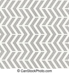 Geometric seamless pattern. Abstract background with zigzag stripes and fabric texture