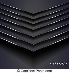 abstract vector background. 3D black metal background with overlapping steps and angles. design for any background