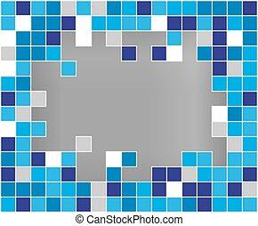 Abstract vector background broken mozaic