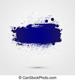Abstract vector background. Colorful paint banner