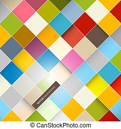 Abstract Vector Background - Colorful Squares