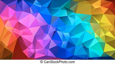 Abstract vector background - Colorful triangular abstract...