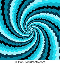 Abstract vector background for design. Blue rotation.
