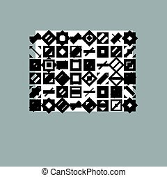 Abstract vector background, geometric illustration.