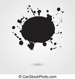 Abstract vector background. Grunge artistic paint banner