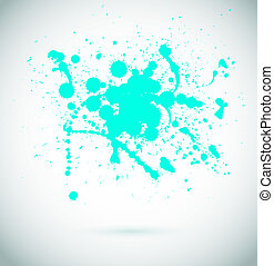 Abstract vector background. Grunge paint banner