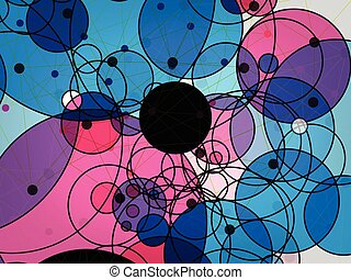 abstract vector background of circle technology