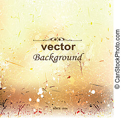 Abstract vector background on grunge paper with place for your text.