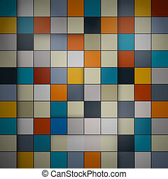 Abstract vector background - retro squares
