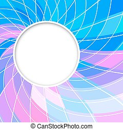 Abstract vector background. Round frame. Circle shape. Blue pink color circles