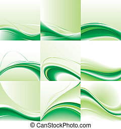 Abstract vector background set.