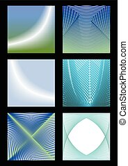 Abstract vector background set in blue and green