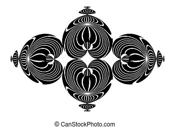 Abstract vector background set on a black background