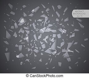 Abstract vector background. Stylish trendy background, special effect of broken glass.