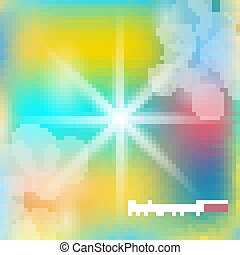 Abstract vector background. Sun rays color illustration