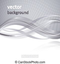 Abstract vector background with smooth shiny grey, gray...