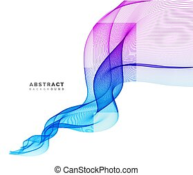 Abstract vector background, wave