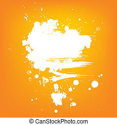 Abstract vector background. White contrast paint banner