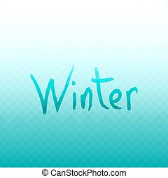 Abstract vector background. Winter colors.