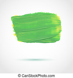 Abstract vector background with artistic paint banner
