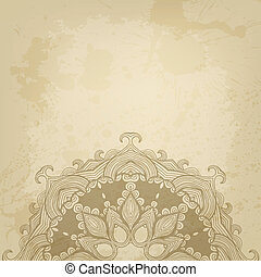 Abstract vector background with beautiful lace stylized arabesque