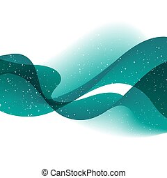 Abstract vector background with blue smooth color wave.