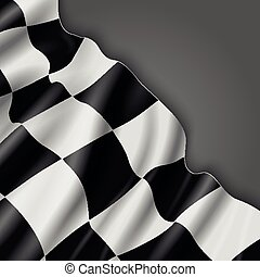 Abstract vector background with checkered racing flag