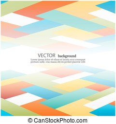 Abstract Vector background with Colored rectangles