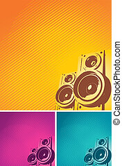 Abstract vector background with loudspeakers
