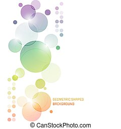 Abstract vector background with overlapping colored circles.