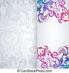 Abstract vector background with floral item.